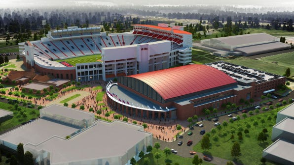 Ole Miss' new parking deck is part of an overall campaign that will build a new basketball arena and renovate Vaught-Hemingway Stadium.
