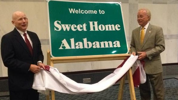 "Tourists traveling into Alabama will soon be greeted by signs saying ""Welcome to Sweet Home Alabama."""