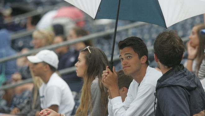 Rain has caused several events for Thursday to be postponed or canceled.
