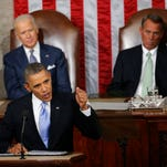 """FILE - In this Jan. 28, 2014, file photo, Vice President Joe Biden and House Speaker John Boehner of Ohio listen as President Barack Obama gives his State of the Union address on Capitol Hill in Washington. In the address, Obama unveiled a new program called """"myRA,"""" for """"my IRA."""" According to the Treasury Department, people can contribute through an employer, through contributions from a bank account or by directing all or part of their tax refund to their myRA account. (AP Photo/Charles Dharapak, File)"""