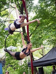Aerialists perform with Little Circus at the Philadelphia