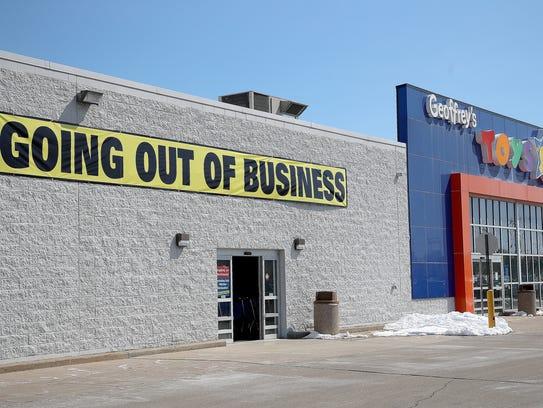 "The Toys 'R"" Us store on West Mason Street Thursday,"
