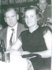 Bill and Ginny Hicks on their honeymoon in 1944.