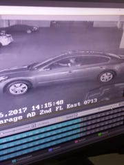 This security footage shows a car that was taken in a carjacking Thursday afternoon at the Nugget in Sparks. A girl was taken into the car as well, and an Amber Alert has been issued.
