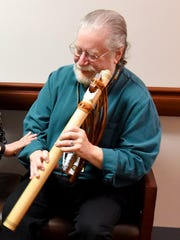 Lou Boden to perform on his wooden flute at Artisans
