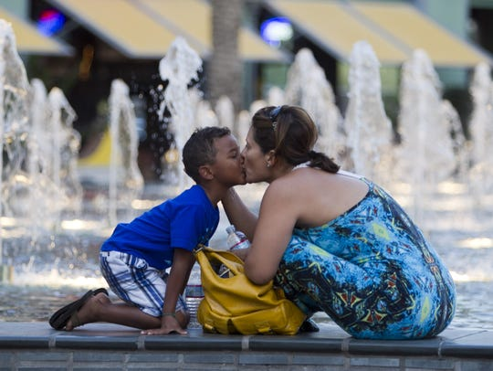 Fountain Park is a great spot to keep cool at Westgate.