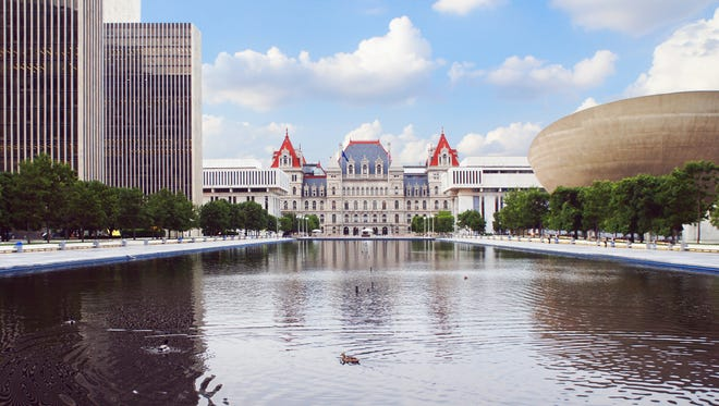 New York State Capitol and Empire State Plaza in Albany