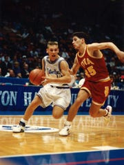 John Yablonski dribbles for Seton Hall in the mid-1990s.