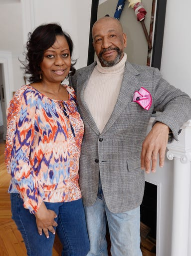 Detroit artist Tyree Guyton and his wife. Jenenne Whitfield,