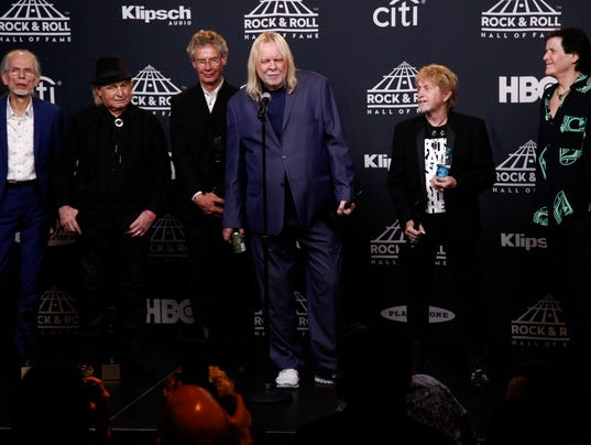 Image result for yes band rock and roll hall of fame