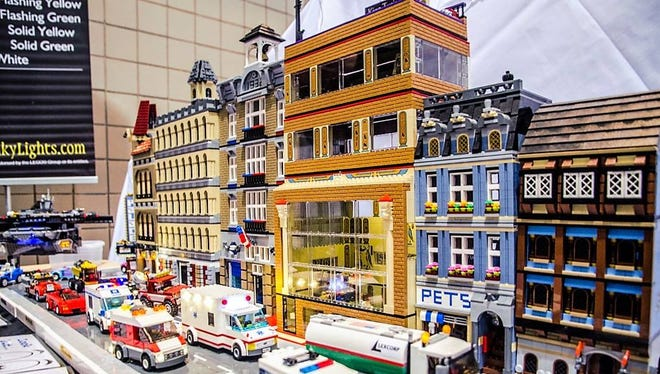 A LEGO display at a previous BrickUniverse LEGO Fan Expo. The event will come to Knoxville on Aug. 26 and 27.