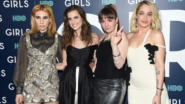 'Girls' stars Zosia Mamet, left, Allison Williams,