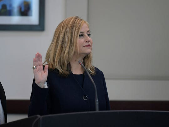 Nashville Mayor Megan Barry appeared in court in Nashville