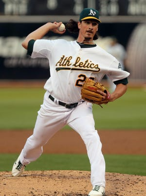 The White Sox acquired Jeff Samardzija in a trade with the Athletics.
