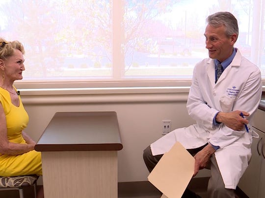 Intermountain Healthcare's Dr. Stephen Peters meets with Rebecca Hurst to discuss the risk of Type 3 diabetes.