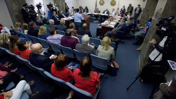 Standing-room only during committee discussion on the autism insurance bill at the Alabama Statehouse in Montgomery, Ala., on Thursday May 4, 2017.