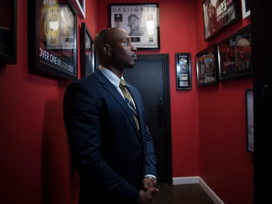 """Navarro Gray at his office in Hackensack on Friday, June 22, 2018. Gray is Fetty Wap's lawyer and has many other musicians as clients. He also has starred on the VH1 reality series """"Love & Hip Hop."""""""