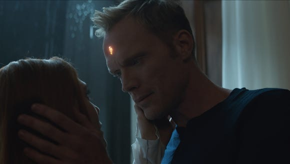 Seen here in human form, the android Vision (Paul Bettany,