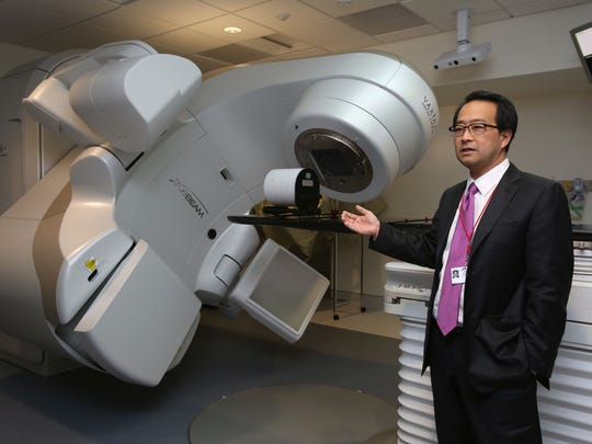 Dr. Henry Lee, director of radiation oncology, talks about the linear accelerator used for radiation at the new cancer care center in NewYork-Presbyterian Lawrence Hospital in Bronxville Nov. 16, 2016.