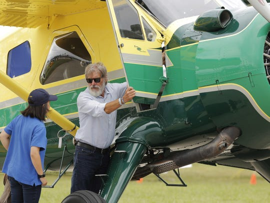 Harrison Ford in July 2016 at the Experimental Aircraft