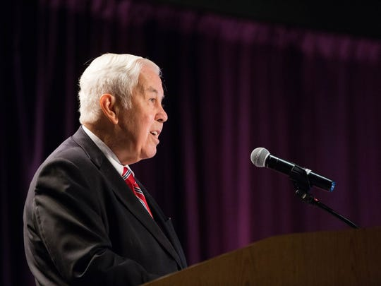Richard Lugar, former U.S. senator from Indiana, was the keynote speaker at the 2017 Domenici Public Policy Conference at the Las Cruces Convention Center. Wednesday September 13, 2017.