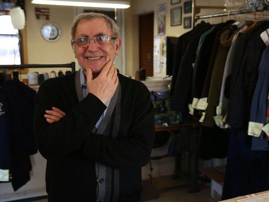 Mario Simoni at Mario's Tailor Shop in the Town of