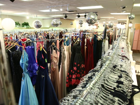 Dresses in the showroom at Town Shop in the Town of