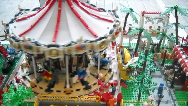 The Kenosha LEGO Users Group will show off its large-scale, working layout of an amusement park on July 18 at Bay Beach Amusement Park in Green Bay.