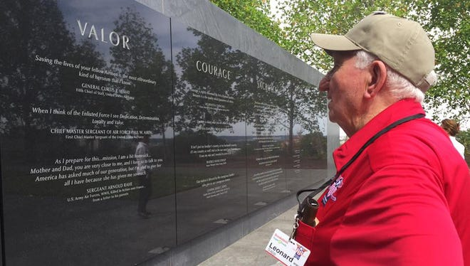 Our Monroe veterans touring Washington are visiting the Air Force Memorial.