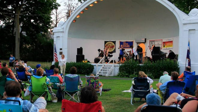 The band Alive N Kickin' performing at Hudson Park in New Rochelle.