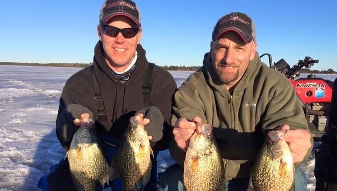 Duane Creviston and Andy Teller with some nice crappies.