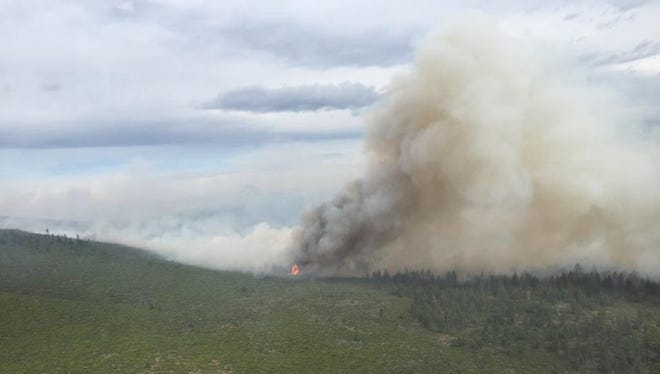 The Akawana Fire, 1.5 miles south of the Three Rivers subdivision