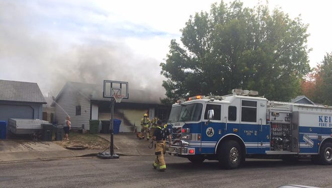 A fire at a Keizer home displaced three people Sunday afternoon.