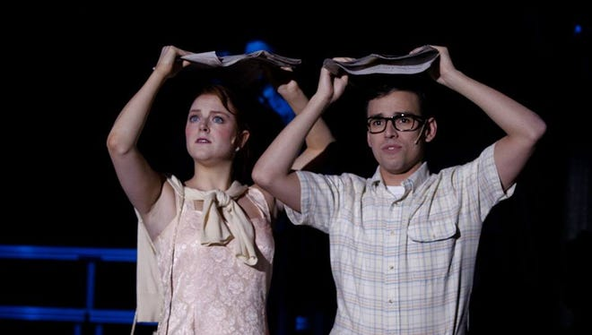 """Janet (Erin Williams) and Brad (Keith Martinez) are in for a long night in """"The Rocky Horror Show."""""""