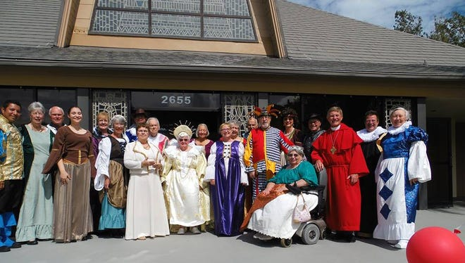 Participants of Immanual Lutheran Church's 2015 Madrigal celebration are all dressed up for the feast.