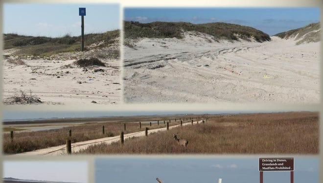 The unpaved cross-island road located near the 15-mile marker on South Beach, known as Yarborough Pass, is closed to public use.