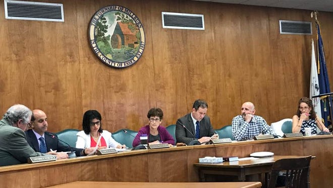 The Millburn Council is pictured during a recent meeting when it spoke about the Complete Streets project.