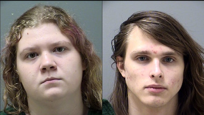 The Cherokee County Sheriff's Dept. released mug shots Oct. 26,2017, of Victoria McCurley, 17, left, Alfred Dupree, 17, following their arrests on charges of plotting at attack on Etowah high school in Woodstock, Ga.