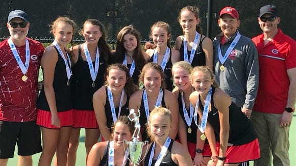 Greenville's girls tennis team won its second straight