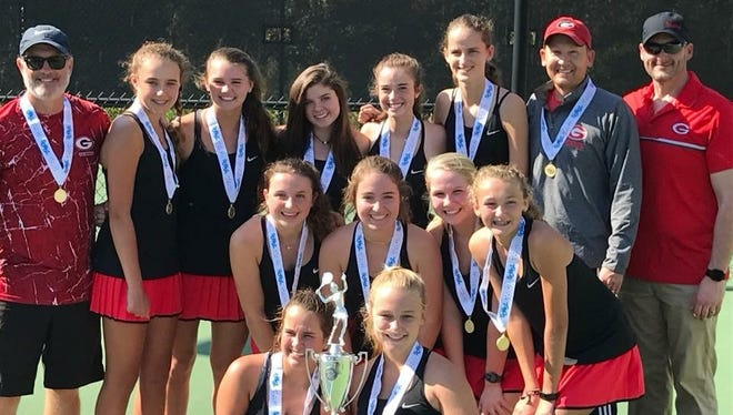 Greenville's girls tennis team won its second straight Class AAAA championship Saturday, defeating A.C. Flora 4-2 at the Cayce Tennis Center.