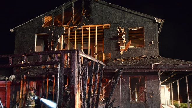 A fire at the 3000 block of Quail Lane on Friday, Jan. 26.