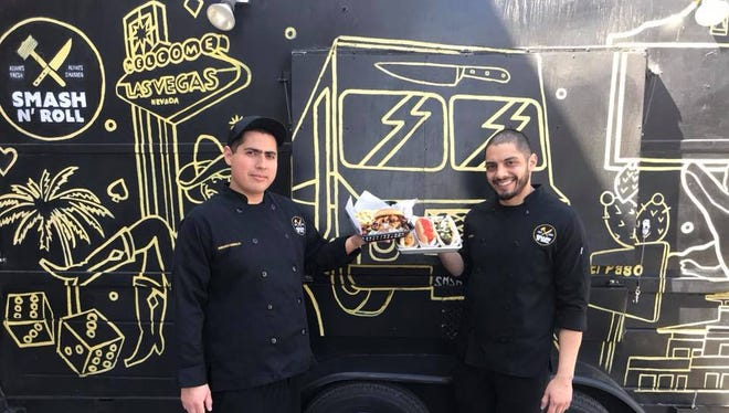 Fernando Gonzalez, left, and Juan Zavala, are the owners of Smash & Roll food truck.