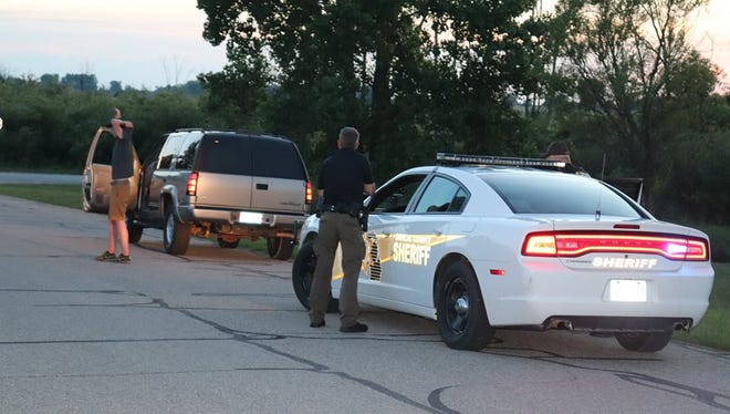 Sanilac County deputies participate in a training exercise June 28