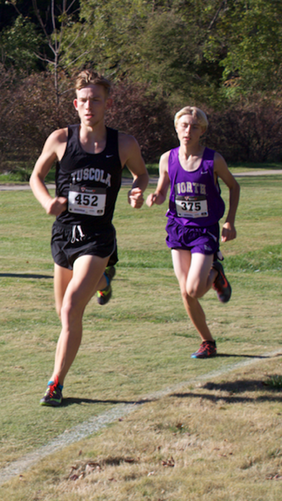 Tuscola's Jacob Franklin was the boys individual winner at Tuesday's WNC Athletic Conference meet.