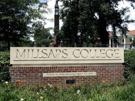 The entrance to Millsaps College, a small liberal arts institution in Jackson, Miss.