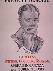 Posters, face masks and quarantines warned Americans of the dangers of the Spanish flu epidemic