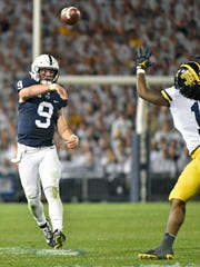 Penn State quarterback Trace McSorley passes the ball