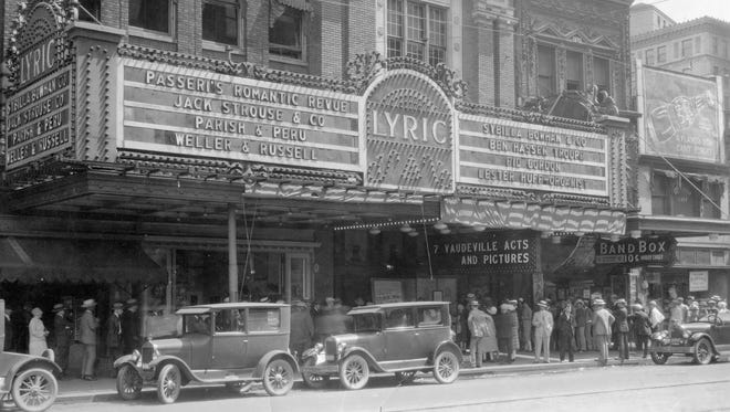 The Lyric Theatre opened in 1912 at 135 N. Illinois St.