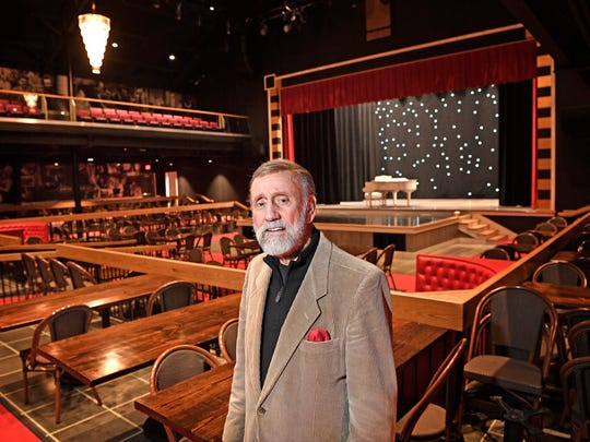 """Ray Stevens opened his """"Cabaray"""" - a dinner club and piano bar in Nashville at the end of December. It's a multi-million dollar complex that seats more than 1,000 people.  Wednesday Dec. 6, 2017, in Nashville, TN  Caption Override"""