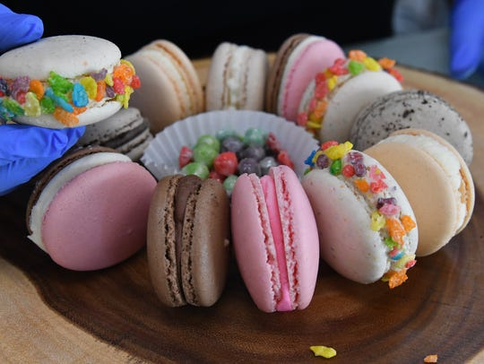 Snow Monster offers a variety of macaron flavors at